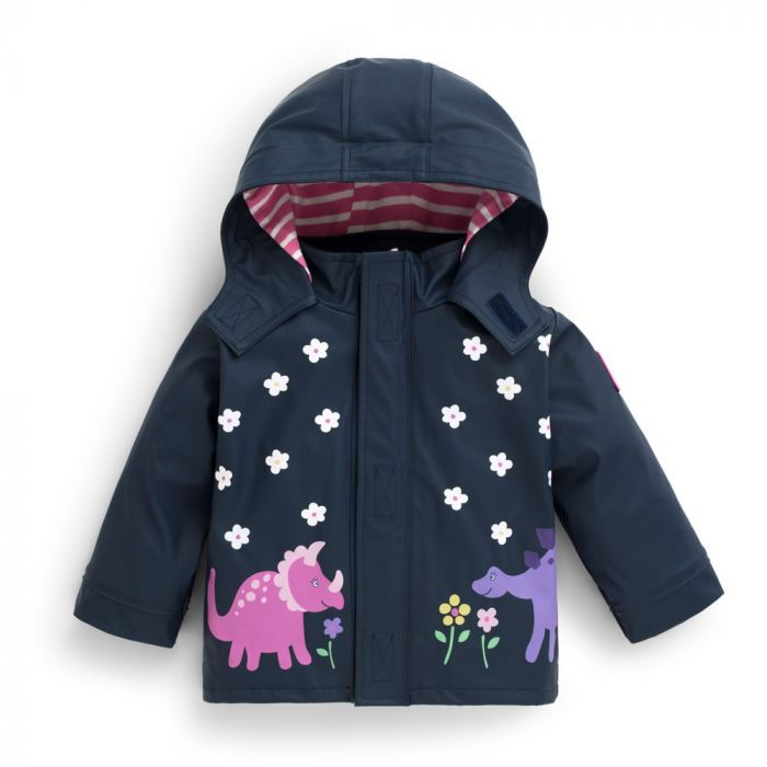 authentic high fashion on feet shots of Infant / Toddler Dino Color-Changing Rain Coat