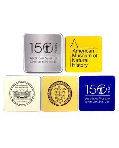 Set of 4 Museum 150th Anniversary Logo Coasters