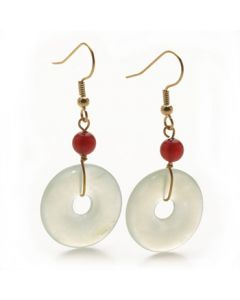 Jade Disc Earrings