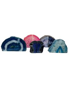 Assorted Dyed Agate Bookends