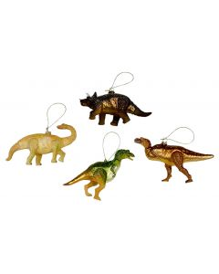 Assorted Glass Dinosaur Ornaments