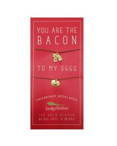 Bacon and Eggs Friendship Necklaces