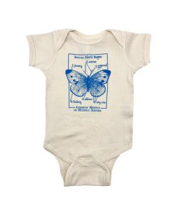 Infant Butterfly Species Diagram Onesie