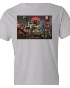 Adult Dinosaur Poker T-Shirt