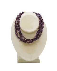 Teardrop Garnet 3-Strand Necklace