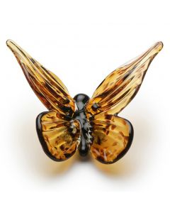 Handcrafted Glass Monarch Butterfly Paperweight