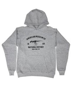Adult Gray Eco-Friendly AMNH T.Rex Hoodie