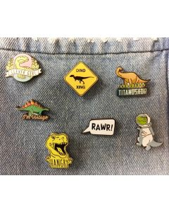 Dinosaur Humor Bar Pins