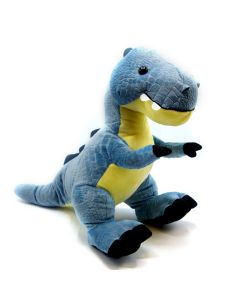 Large Blue Textured Plush T. Rex