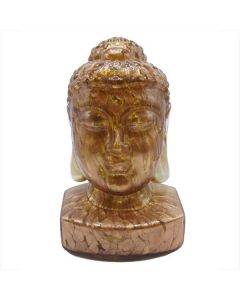 Large Guanyin Swirled Copper Glass Buddha Head