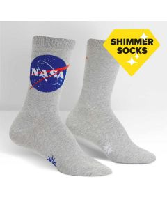 Ladies NASA ''Titanium'' Shimmer Socks