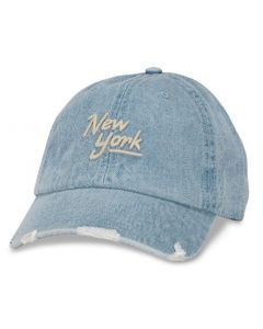 Distressed Denim New York Cap