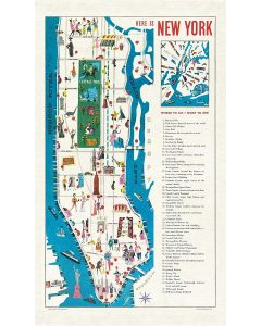Vintage New York City Map Tea Towel