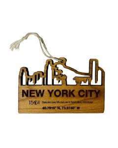 Engraved Wood NYC Museum Ornament