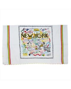 NYC Map Dish Towel