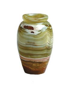4 Inch Tall Banded Onyx Vase