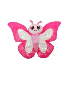 Sequined Plush Butterfly - Pink