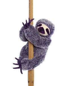 Purple Plush 3-Toed Sloth