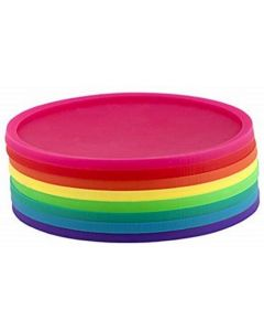 Set of 8 Rainbow Coasters