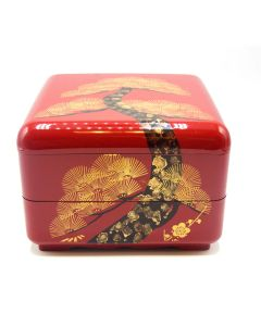 Japanese Red Lacquer Jubako Box