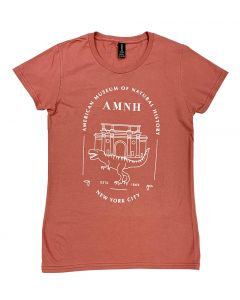Ladies AMNH Building Facade Rose-Colored T-Shirt