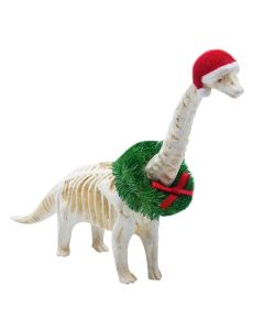 Apatosaurus Skeleton Ornament - Bow Wreath