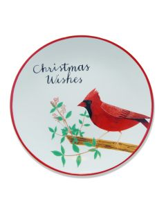 Cardinal Christmas Wishes Dinner Plate