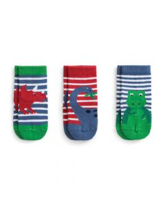 Infant / Toddler 3-Pack Dinosaur Socks