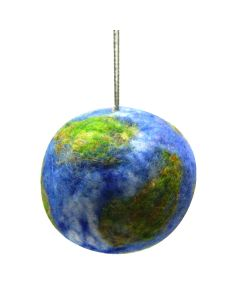 Handcrafted Wool Earth Ornament