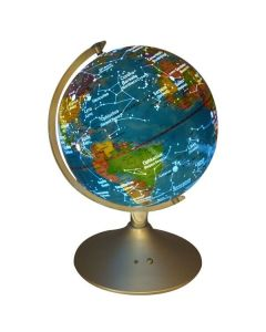 2-In-1 Illuminated Earth and Constellation Globe Lit