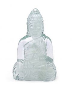 Glow-In-The-Dark Crystal Glass Buddha
