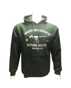Adult Museum Logo Forest Green Fleece Hoodie