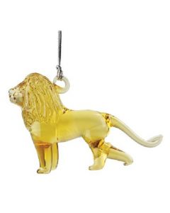 Glass Lion Ornament