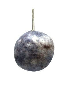 Handcrafted Wool Moon Ornament