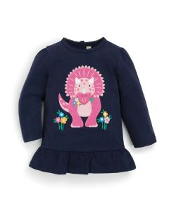 Infant / Toddler Navy Triceratops Tunic