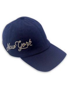 Navy New York Embroidered Cap