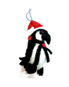 Felt African Penguin Ornament