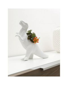White Ceramic T.Rex Planter