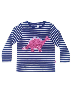 Toddler Sequined Dino Long Sleeve Top