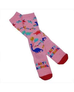 Girls Party Animal Knee High Socks
