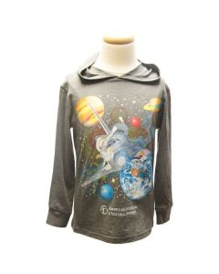 Youth Long Sleeve Space Ship Hoodie