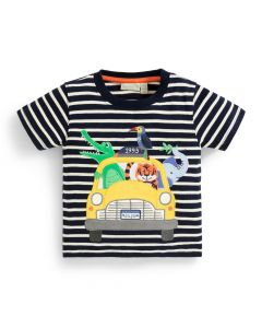 Infant / Toddler Striped Jungle Taxi T-Shirt